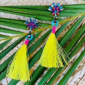 🔥 Jeweled Tassel Statement Earrings 🔥